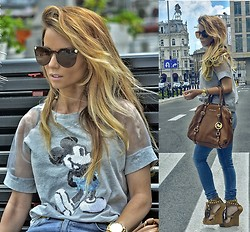 Pola D. - Michael Kors Bedford, Fringed Wedges, H&M Skiny Jeans, Versace Sunglasses, Mickey Mouse, Ombre Hair - Mickey Mouse club