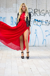 Ilda Hadzic - Sheinside Dress, Luxury For Princess Hair Extensions - Red dress