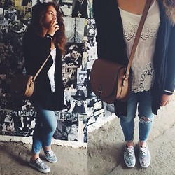 Milana Berman - Vans Sneakers, Sunlight Bag, Pull & Bear Cardigan, Pull & Bear Top, Pull & Bear Jeans - Everyday look