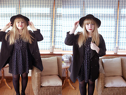 Sarah Worcester - Urban Outfitters Polka Dot Dress, H&M Coat, H&M Hat - Witchy