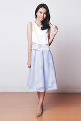 Tricia Gosingtian - The Blush Inc Skirt, The Blush Inc Top, Sole Story Shoes - 081714