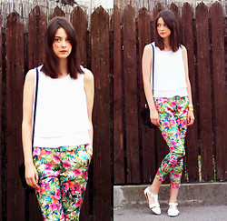 Nora Aradi - Romwe Pants, Asos Shoes, Chicnova Top - Tropical