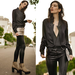 Elle-May Leckenby - Stella Mccartney Tuxedo Jacket, Haati Chai Eshe Neckpiece - Back to black