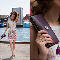 Andrea Andrea - Karen Mille Printed Dress, Tommy Hilfiger Clutch, Georg Jensen Ring - Two faced