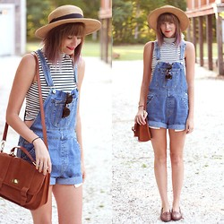 Steffy Degreff -  - Overalls + lavender tips