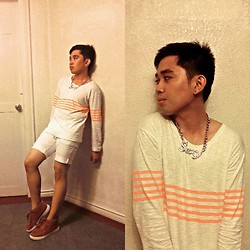 Jared Caagbay - Forever 21 Pek Shorts Men, Forever 21 Stripe Pullovers, Ororama Sexy - Sexy Orange