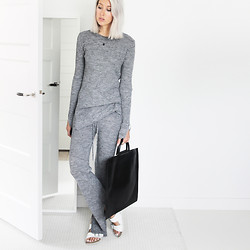 Joyce Croonen - Zara Top, Zara Trousers, Building Block Bag, Birkenstock Sandals - All knit look
