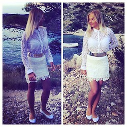 Antonella - H&M Skirt, Tally Weijl Blouse, Forever 21 Shoes - Summer nights and city lights