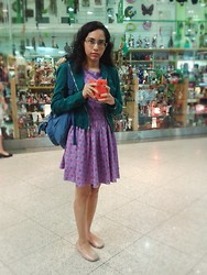 Lídia Rayanne - Pool Jacket, My Creation Floral Dress, Kipling Backpack, Melissa Ballet Shoes - I'm back!