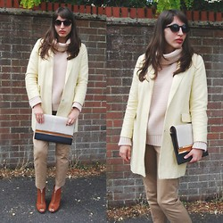 Amy-Rose W - Topshop Yellow Coat, Zara Roll Neck Jumper, Primark Boots - Mellow Yellow