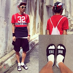 SOMAD • MATTHEW • 蘇柏傑 - Nasir Mazhar Functional Cap, Whatever Sliders Vfile, Material Boy Shorts, Beams Boy Watch - Nasir sport chic
