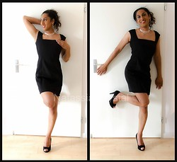Natassia - Mango Black Dress By, New Look Black Peeptoes By - Black is the old, current and new black!