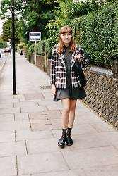 Toni Caroline - Zara Checked Jacket, Red Or Dead Funny Face Socks - LONG WEEKEND