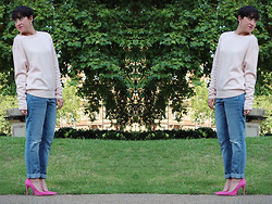 LOLLI MAHON - Warehouse Powder Pink Jumper - PINK LADY.