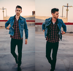 Edward Honaker - Levi's® Jacket, Levi's® Jeans - Imagine an explosion in the background