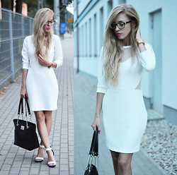 Aneta M - Rue Paris Dress, Milanoo Heels - WHITE DRESS