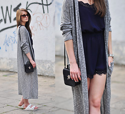 PATINESS -  - LONG GREY CARDIGAN