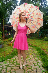 Marie McGrath - Aeropostale Pink Dress - Pink on a rainy day