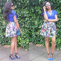 Laviniah K - Frontrowshop Skirt, New Look Heels, Michael Kors Watch, New Look Sunglasses - Kaleidoscope