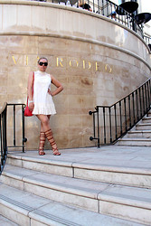 Azaliya Latypova - Free People Dress, Guess? Shoes, Kenneth Cole Crossbody Bag, Jimmy Choo Sunnies, Topshop Bracelet - Rodeo Drive