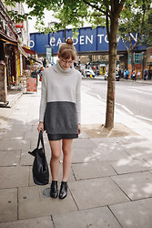 Toni Caroline - Jigsaw Leather Mini Skirt, Jigsaw Pixie Chelsea Boots - CAMDEN TOWN