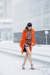 Ania B - Topshop Coat, Topshop Top, Topshop Shorts, Zara Sandals - Let it snow... in spring
