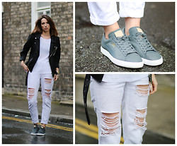 Ciara O doherty - Boohoo, Puma, Minusey - Distressed Denim