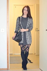 Lina Roma - Vero Moda Cardigan, River Island Stockings, Monki Sweater - CARIBOU - CAN'T DO WITHOUT YOU