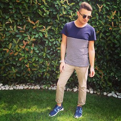 Gabriele Giuzzi - Zara T Shirt, Spitfire Sunglasses, Nike Shoes, Scout Pants, Casio Clock - Sporty sailor!