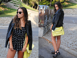 Claudia Villanueva - Zara Jacket, Primark Playsuit, Misako Bag, New Look Sandals - Daisies