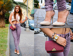 Deborah D - Asos Jeans, Mango Crossbody Bag, Asos Shoes, Boohoo Crop Top, Alviero Martini Watch - Welcome fashion month