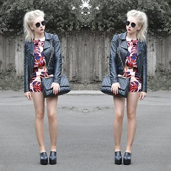 Sammi Jackson - Choies Palm Printed Coordinates, Sammy Dress Chunky Boots - PALM COORDINATES