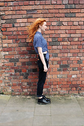 Hannah Louise - American Apparel Polka Dot Shirt, Dr. Martens Shoes - Polka Dot Shirt