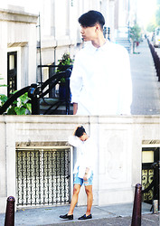 John Setrodipo - Asos White Shirt, Asos Denim Shorts, Zara Loafers - BYE BYE SUMMER