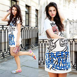 Anna Lorena . - Zara Dress, Accessorize Purse, Toms Shoes - Inhale Fashion, Exhale Style!
