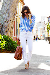 Luba { Well Living Blog } - Zara Shirt, Zara Jeans, Balenciaga Bag - At the same point