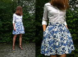 Meris Canis Lupus - H&M Floral Skirt, White Blouse - Almost like an Afterthought