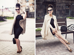 Vita K. - Hybrid Dress, My Pet Square Cape, Asos Shoes - Cappuccino