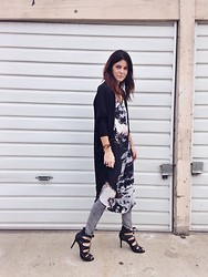 Rachel Fox - Anthropologie Cocoon, Maeve Ombre, Key Necklace, H&M Jeans, Vince Camuto Shoe - Long over long over long