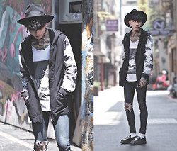 IVAN Chang - Wrongpeople Hoodie, Wrongpeople Vest, Dr. Martens Loafers - 040914 TODAY STYLE