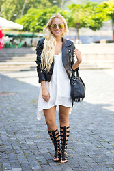 Ilda Hadzic - Romwe Dress, Milanno Sandals - Gladiator
