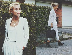 Petra Karlsson - H&M Blazer, H&M Top, Sheinside Pants, Zara Bag, H&M Shoes - Loose fit