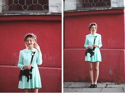 ♡Anita Kurkach♡ - Wholesale7 Mint Dress, Chic Wish Bag, New Look Loafer - Mint Dress.