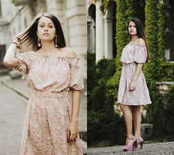 Anna Eprintseva - Hand Made Dress, H&M Earrings, Jeffrey Campbell Shoes - Romantic dress