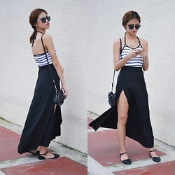 Jennica Sanchez - Cotton On Flats, Wildfox Couture Cropped, Forever 21 Sunnies - Stripes