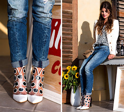 Michèle Krüsi - Jeffrey Campbell Booties, Zalando Top, Mint & Berry Blazer - THEM BOOTIES