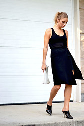 Jillian Lansky - Aritzia Tank Top, Zara Side Slit Skirt, Aldo Mules - What to wear this weekend