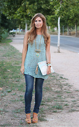 A TRENDY LIFE - We Are Knitters Top, Mango Jeans, Mimique Clutch, Georgia Rose Sandalias - Knit Top