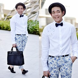 Lo Pascual ⚓ - Zara Hat, Shirt And Trousers, Splash Fashions Bowtie - Love Abu Dhabi Year 2 Anniversary: The Galleria Mall