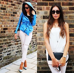 Teral Atilan - Céline Sunglasses, (Turkey) Leather Jacket, Zara Bag, Topshop Ripped Jeans, Zara Heels, Burberry Watch - Am I Wrong